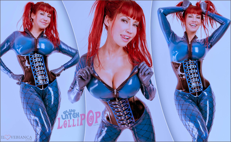 Blue Latex Lollipop Bianca Beauchamp Official Website