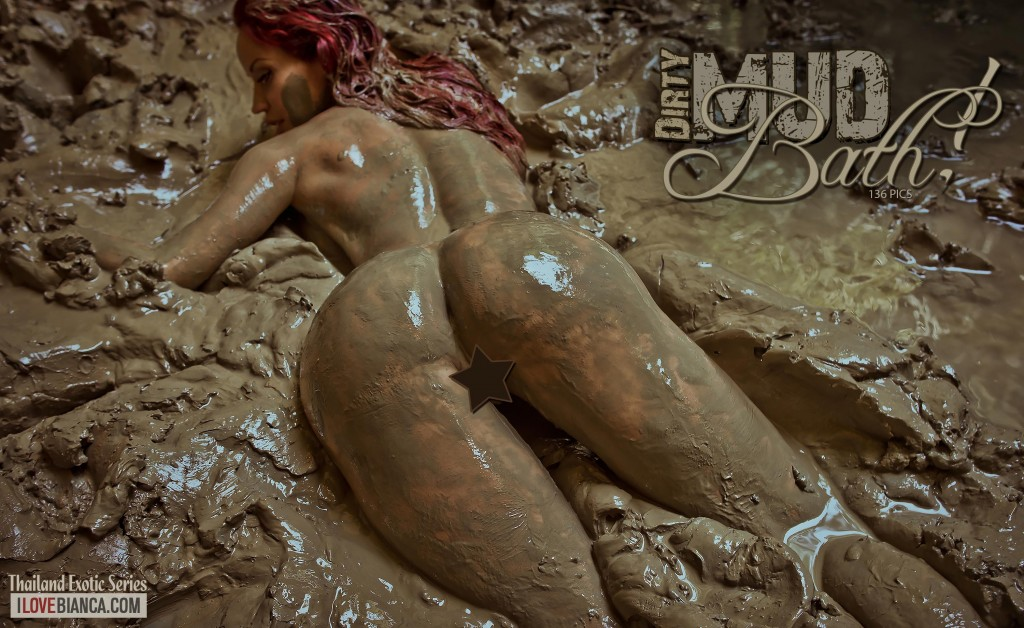 naked-girl-bathing-in-mud