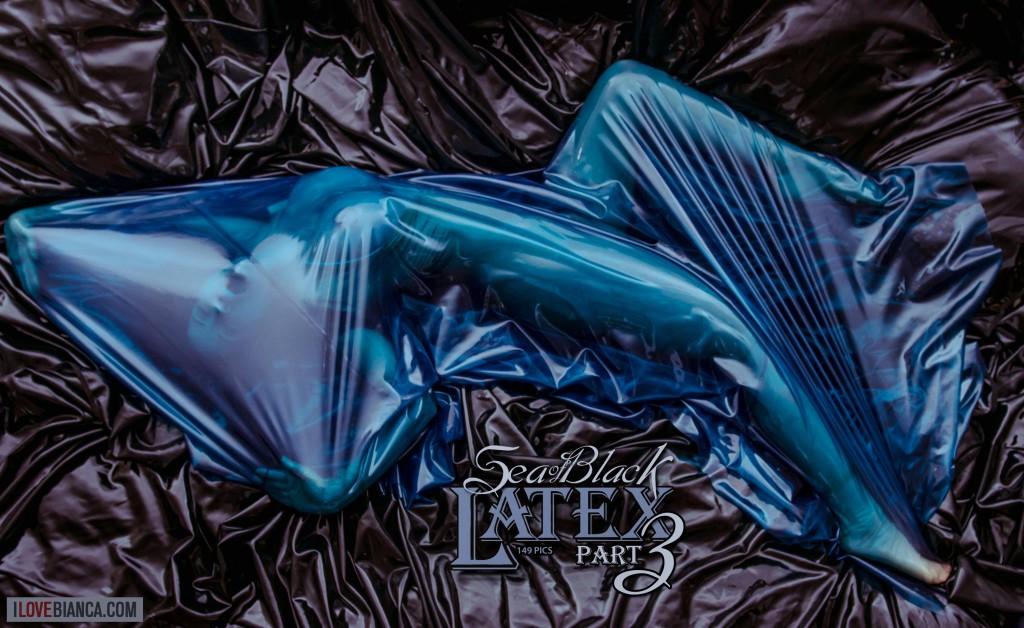 Sea of Black Latex - Bianca Beauchamp: latex, lingerie