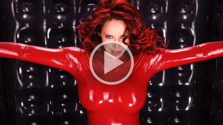 bianca beauchamp 2009 rubber room red catsuit screenshot