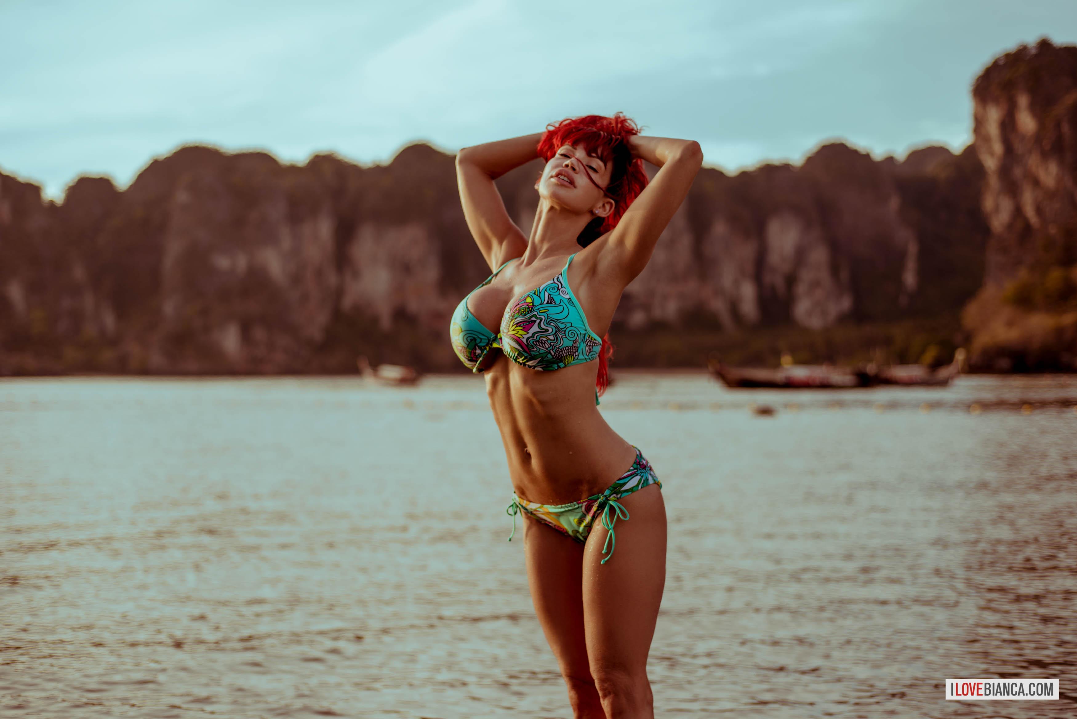 Blue bikini bianca beauchamp